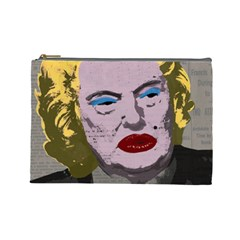 Happy Birthday Mr  President  Cosmetic Bag (large)  by Valentinaart