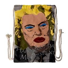 Happy Birthday Mr  President  Drawstring Bag (large) by Valentinaart