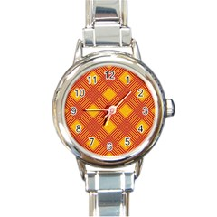 Pattern Round Italian Charm Watch by Valentinaart