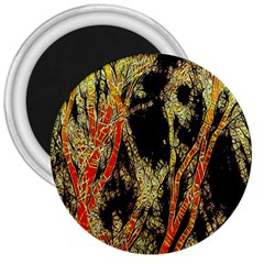 Artistic Effect Fractal Forest Background 3  Magnets by Simbadda