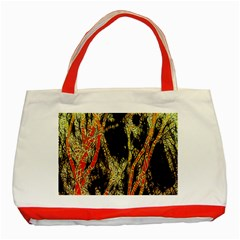 Artistic Effect Fractal Forest Background Classic Tote Bag (red) by Simbadda