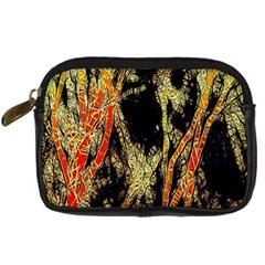 Artistic Effect Fractal Forest Background Digital Camera Cases by Simbadda