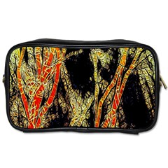 Artistic Effect Fractal Forest Background Toiletries Bags 2 Side by Simbadda