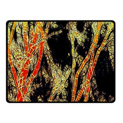 Artistic Effect Fractal Forest Background Fleece Blanket (small) by Simbadda