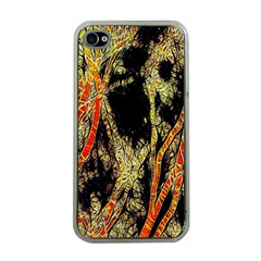 Artistic Effect Fractal Forest Background Apple Iphone 4 Case (clear) by Simbadda