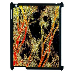 Artistic Effect Fractal Forest Background Apple Ipad 2 Case (black) by Simbadda