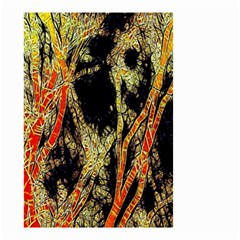 Artistic Effect Fractal Forest Background Small Garden Flag (two Sides) by Simbadda