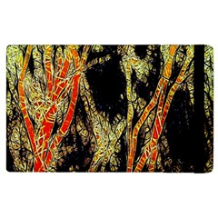 Artistic Effect Fractal Forest Background Apple Ipad 2 Flip Case by Simbadda