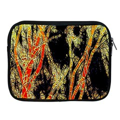 Artistic Effect Fractal Forest Background Apple Ipad 2/3/4 Zipper Cases by Simbadda
