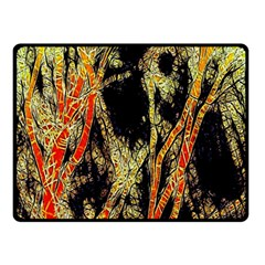 Artistic Effect Fractal Forest Background Double Sided Fleece Blanket (small)  by Simbadda