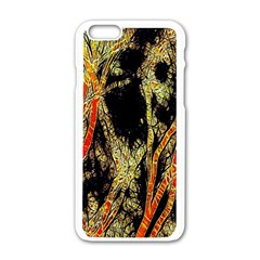 Artistic Effect Fractal Forest Background Apple Iphone 6/6s White Enamel Case by Simbadda