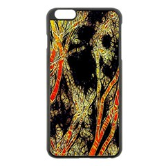 Artistic Effect Fractal Forest Background Apple Iphone 6 Plus/6s Plus Black Enamel Case by Simbadda