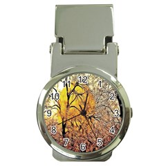 Summer Sun Set Fractal Forest Background Money Clip Watches by Simbadda