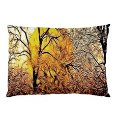 Summer Sun Set Fractal Forest Background Pillow Case by Simbadda