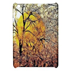 Summer Sun Set Fractal Forest Background Apple Ipad Mini Hardshell Case