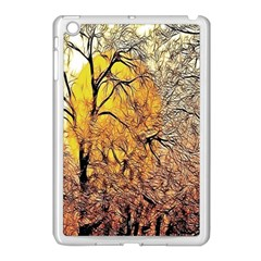 Summer Sun Set Fractal Forest Background Apple Ipad Mini Case (white) by Simbadda