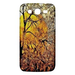 Summer Sun Set Fractal Forest Background Samsung Galaxy Mega 5 8 I9152 Hardshell Case  by Simbadda