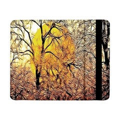 Summer Sun Set Fractal Forest Background Samsung Galaxy Tab Pro 8 4  Flip Case by Simbadda