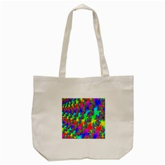 Digital Rainbow Fractal Tote Bag (cream) by Simbadda