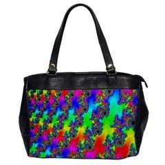 Digital Rainbow Fractal Office Handbags by Simbadda