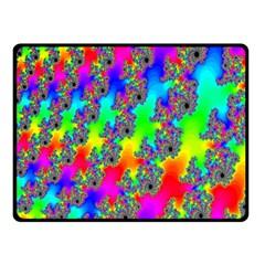 Digital Rainbow Fractal Fleece Blanket (small) by Simbadda