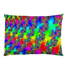 Digital Rainbow Fractal Pillow Case (two Sides) by Simbadda