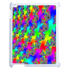 Digital Rainbow Fractal Apple Ipad 2 Case (white) by Simbadda