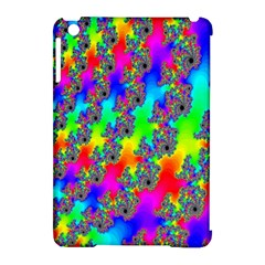 Digital Rainbow Fractal Apple Ipad Mini Hardshell Case (compatible With Smart Cover) by Simbadda