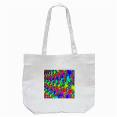 Digital Rainbow Fractal Tote Bag (white) by Simbadda