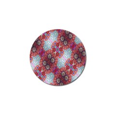 Floral Flower Wallpaper Created From Coloring Book Colorful Background Golf Ball Marker (4 Pack) by Simbadda