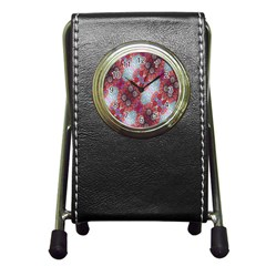 Floral Flower Wallpaper Created From Coloring Book Colorful Background Pen Holder Desk Clocks by Simbadda