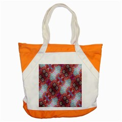 Floral Flower Wallpaper Created From Coloring Book Colorful Background Accent Tote Bag by Simbadda