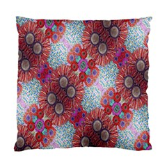 Floral Flower Wallpaper Created From Coloring Book Colorful Background Standard Cushion Case (one Side) by Simbadda