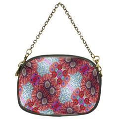 Floral Flower Wallpaper Created From Coloring Book Colorful Background Chain Purses (two Sides)  by Simbadda