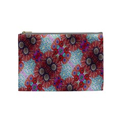 Floral Flower Wallpaper Created From Coloring Book Colorful Background Cosmetic Bag (medium)  by Simbadda
