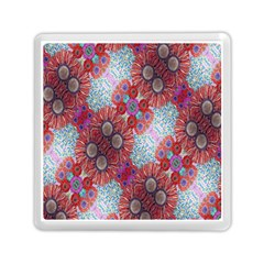 Floral Flower Wallpaper Created From Coloring Book Colorful Background Memory Card Reader (square)  by Simbadda