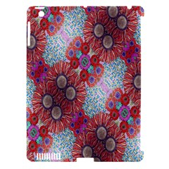Floral Flower Wallpaper Created From Coloring Book Colorful Background Apple Ipad 3/4 Hardshell Case (compatible With Smart Cover) by Simbadda