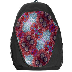 Floral Flower Wallpaper Created From Coloring Book Colorful Background Backpack Bag by Simbadda