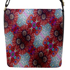 Floral Flower Wallpaper Created From Coloring Book Colorful Background Flap Messenger Bag (s) by Simbadda