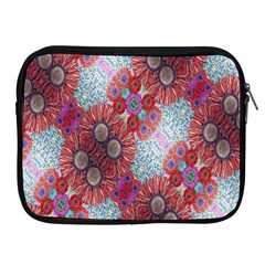 Floral Flower Wallpaper Created From Coloring Book Colorful Background Apple Ipad 2/3/4 Zipper Cases by Simbadda