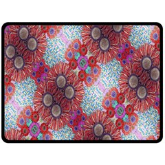 Floral Flower Wallpaper Created From Coloring Book Colorful Background Double Sided Fleece Blanket (large)  by Simbadda