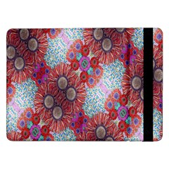 Floral Flower Wallpaper Created From Coloring Book Colorful Background Samsung Galaxy Tab Pro 12.2  Flip Case