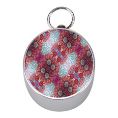 Floral Flower Wallpaper Created From Coloring Book Colorful Background Mini Silver Compasses by Simbadda