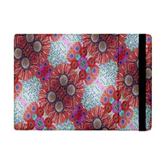 Floral Flower Wallpaper Created From Coloring Book Colorful Background Ipad Mini 2 Flip Cases by Simbadda