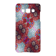Floral Flower Wallpaper Created From Coloring Book Colorful Background Samsung Galaxy A5 Hardshell Case  by Simbadda