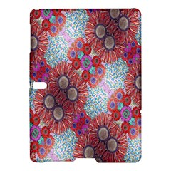 Floral Flower Wallpaper Created From Coloring Book Colorful Background Samsung Galaxy Tab S (10 5 ) Hardshell Case