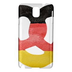 Pretzel in Hand-Painted Water Colors of German Flag Samsung Galaxy Note 3 N9005 Hardshell Case