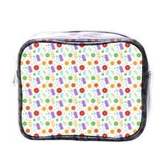 Decorative Spring Flower Pattern Mini Toiletries Bags by TastefulDesigns