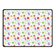 Decorative Spring Flower Pattern Fleece Blanket (small) by TastefulDesigns