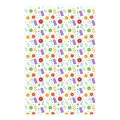 Decorative Spring Flower Pattern Shower Curtain 48  X 72  (small)  by TastefulDesigns